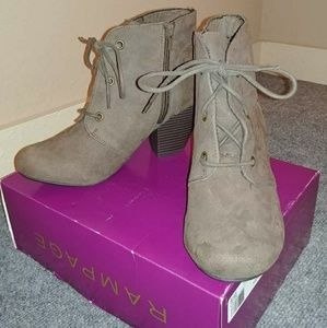 Brand new Rampage taupe booties